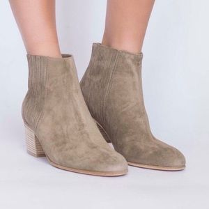 VINCE Boots Haider Flint Suede Bootie 8.5 Shoes